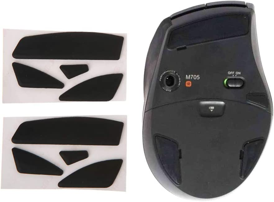 mengersty 2 Sets 0.6mm Thickness Replacement Mouse Feet Mouse Skates for Logitech M705