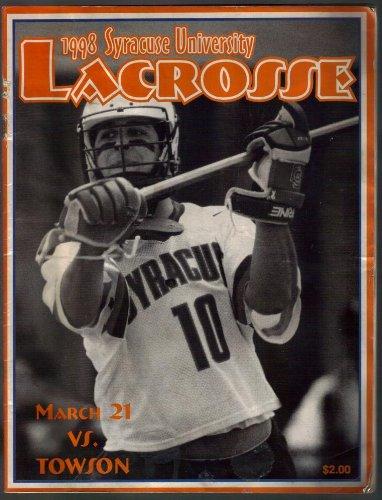 Syracuse University Lacrosse Game Program, 1998 Towson Game / Jason Gebhardt cover ()