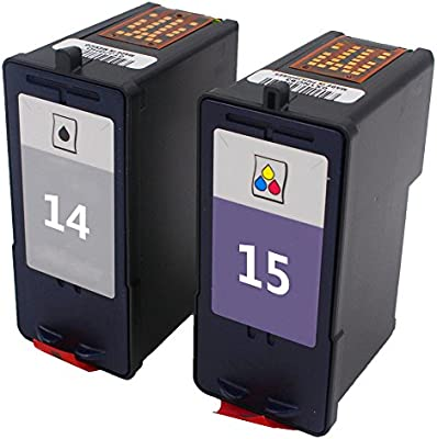 ouguan Compatible Cartuchos de tinta para Lexmark 14 15 14 x l 15 ...