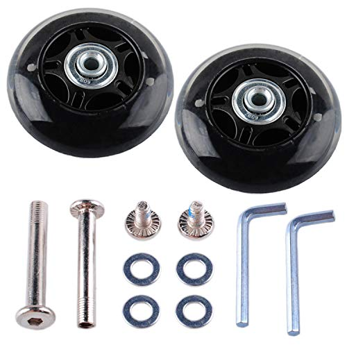 - Gekufa Luggage Suitcase Replacement Wheels (80mm x 24mm) with ABEC 608zz Bearings, Inline Skate Wheels Repair Kit 1 Pair