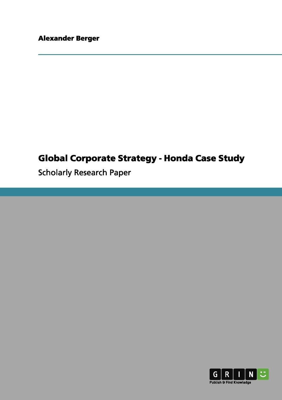 Honda strategy