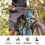 ROCK BROS Men's Mountain Bike Shorts Padded Baggy