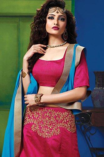Indian Women Designer Wedding Magenta Lehenga Choli Fabz-2619