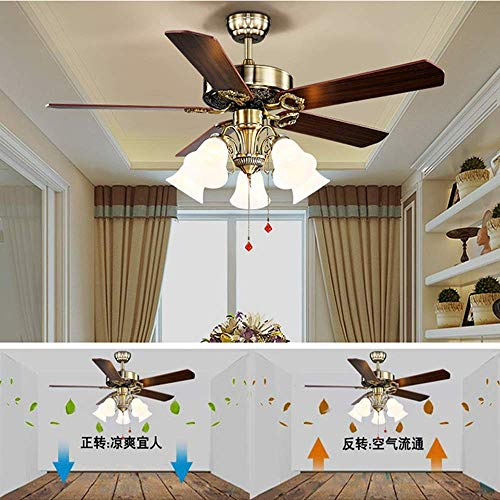 52 Inch Ceiling Fan Light Industry With Light 5 Blade