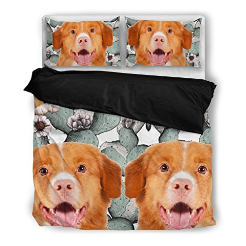 Nova Scotia Duck Tolling Retriever Bedding Set - Dog Lovers Gifts - Custom Cover Print Design Pillow Cases and Duvet Blanket Cover - Pet Gift Ideas