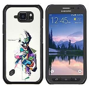 """Be-Star Único Patrón Plástico Duro Fundas Cover Cubre Hard Case Cover Para Samsung Galaxy S6 active / SM-G890 (NOT S6) ( Por qué tan serio ? Bromista"""" )"""