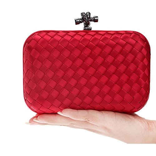 Soiree Femme Ladies Sac Prom Bridale red Tisses NAOMIIII Wedding Embrayage Parties ptwBUU