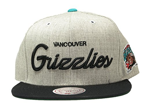 Mitchell and Ness Vancouver Grizzlies Heather Script Throwback (Throwback Jersey Jacket)