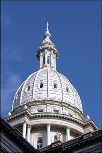 Book Michigan State Capitol Building in Lansing Journal: 150 page lined notebook/diary