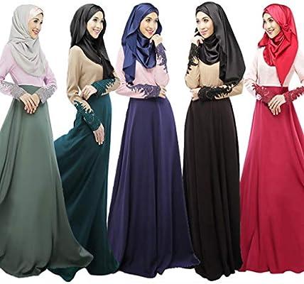 7cdbe1474a Summer Muslim Women Abaya Kaftan Single Layer Long Sleeve Skirt Ethnic  Robes