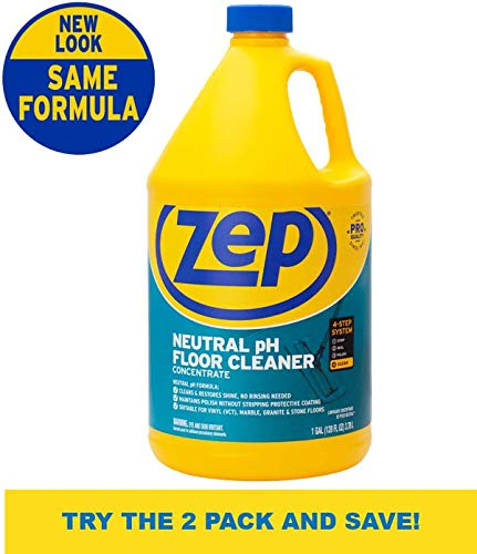 Zep ZUNEUT128 Gal Neutral Floor Cleaner (Colors Stained Cement Floors)