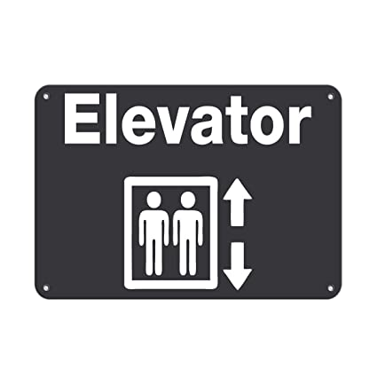 amazon com elevator style 2 business sign elevator signs aluminum