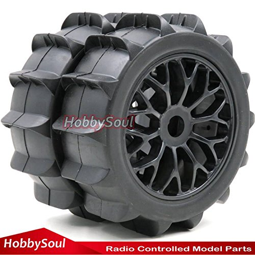 2pcs RC 1/8 Paddles Buggy Tires Snow Sand Tyres Hex 17mm Wheels For RC 1:8 Off Road Car