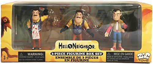 Hello Neighbor 3-piece Figurine Box Set Series One - Complete Playset of 3 Toy Figures]()