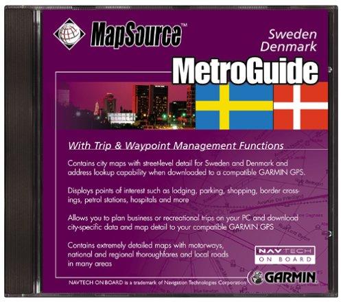 Garmin MetroGuide Denmark/Sweden Map CD-ROM (Windows)