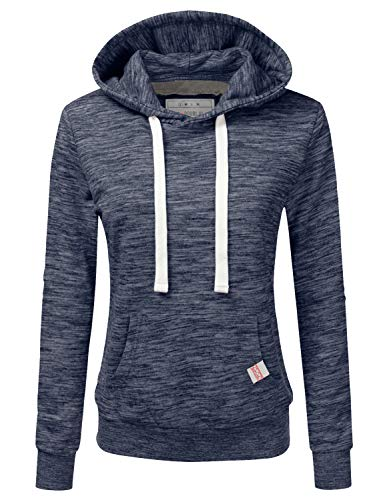 NINEXIS Womens Long Sleeve Fleece Pullover Hoodie Sweatshirts, MARLEDMIDNIGHTBLUE 2X Plus Size