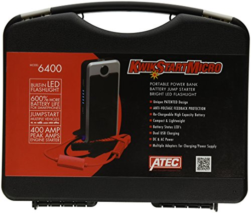 Associated Equipment 6400 12V 400 Amp Atec Kwikstart Micro Lithium Power Bank  Jump Starter