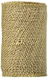 Burlap Ribbon Natural Sewn Edge 6 Inches X 5 Yards (12 Pack)