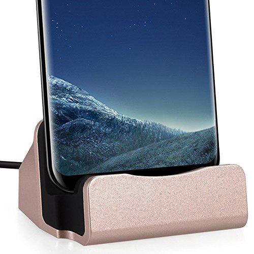 FanTEK USB Type-C Smartphone Charging Dock Station for Huawei Nova, Honor Note 8, LG V20, ZTE Axon 7 / Max, Nubia Z11 Mini/Max, Lenovo ZUK Z2 Pro, Acer Jade Primo, XIAOMI 5S, MEIZU MX6, Rose Gold