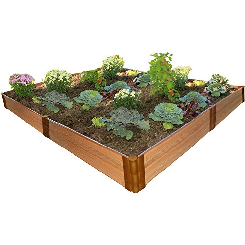 Frame It All 1'' Series 8' x 8' x 11'' Composite Raised Garden Bed Kit by Frame It All