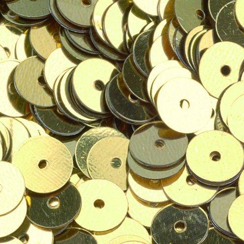 efco-Lustrini piatti rotondi, oro, 6 mm, 5 g, 500 pezzi 1027195