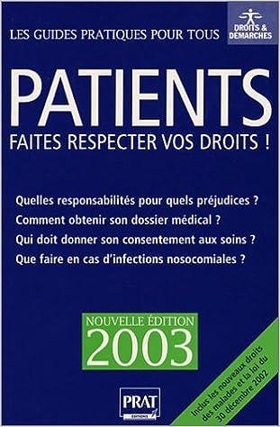 Livre Patients, faites respecter vos droits ! pdf, epub ebook