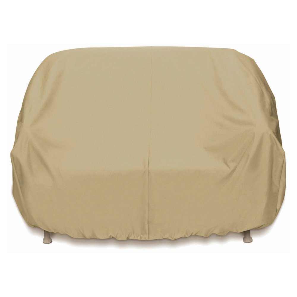 Two Dogs Designs 2D-PF63365 Loveseat Cover With Level 4 UV Protection, Khaki by Two Dogs Designs
