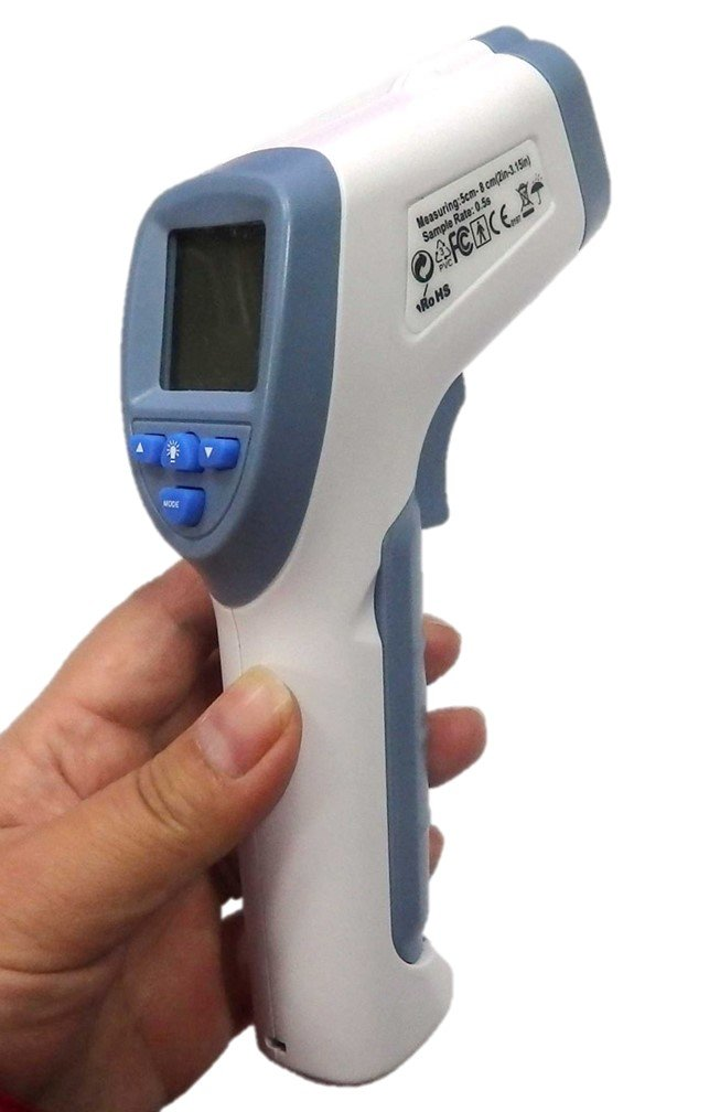 Digital Forehead Inrared Thermometer - No Touch Quick Reading Temperature Gun With LCD Display, Measures all types of Surface In Celsius & Fahrenheit - By BodyHealt by BodyHealt