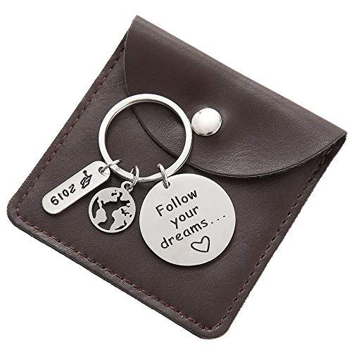 (College Graduation Gifts for Him - Follow Your Dreams Inspirational Keyrings)