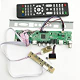WILLAI v56 Universal LCD TV Controller Driver Board PC/VGA/HDMI/USB Interface with 40P lvds Cable 1ch-6 bit Keypad 561416