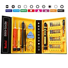 Kaisi 3801-CRV Precision Tool Steel Magnetic Screwdriver set, Repair Kit for iPhone, Samsung Galaxy, Phone, Tablets, Computers, Electronic and Precision Devices, Tool Set with Box, 38-Piece