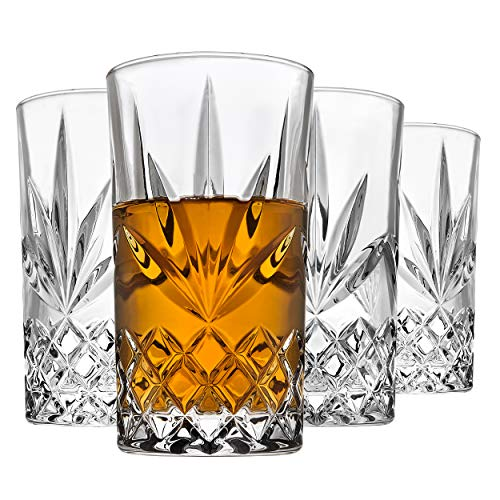 Godinger Highball Glasses, Drinking Glasses for Water, Juice, Cocktails, Beer or Wine – Set of 4