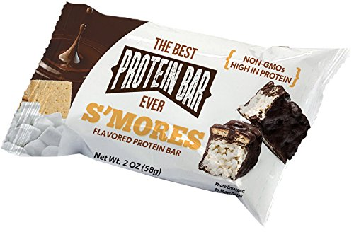 The Best Protein Bar Ever - 10 Bars - Smores - Sports Performance Nutrition With Lepticore 100% Satisfaction Guarantee (10) - Bar Smores