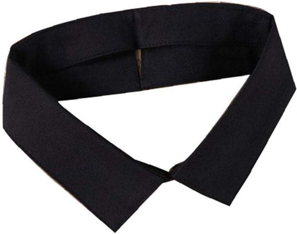 Collar De Imitación Falso Cuello De Solapa Desmontable De La Blusa Top De La Blusa Ropa Accesorio (Negro): Amazon.es: Ropa y accesorios