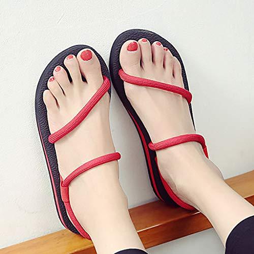 d Portent des Flip Chaussures Flops De Femmes Plage Rouge Anti OzwIxtHqO