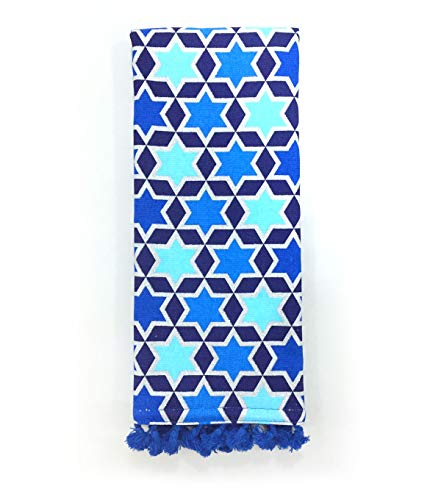 Maker's Holiday Hanukkah Star of David 16''x 28'' Kitchen Hand Towel