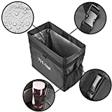 711TEK Car Trash Can - Leakproof and Weighted Portable Car Garbage Bag Basket Hanging for Auto Back Seat Black