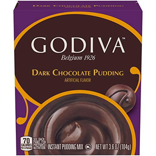 Godiva Dark Chocolate Pudding Mix, 3.6 oz Box (Pack of 14)