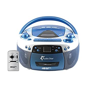 Hamilton Buhl HEC5050ULTRA Educational Boombox Home CD Player Recorder Blue