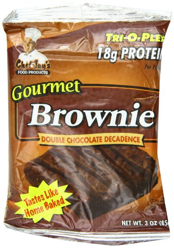Chef Jay's Food Products Trioplex Brownie Double Chocolate Decadence, 3 oz. each, 12-Count Box