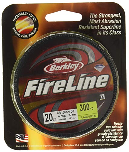 Berkley Bfl30014-Gg Fireline Fused Original Fishing Bait, Flame Green, 300 ()