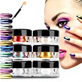 TANGON 12pcs/set Nail Glitter Powder Dust Nail Art Chrome Pigment Manicure Sequins Decoration DIY