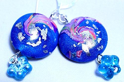 Cosmos In Chaos Swirl Lentil Bead Earrings