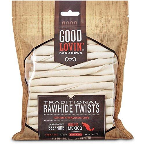 Good Lovin' Traditional Rawhide Twist Dog Chews, Pack of (Munch Sticks)