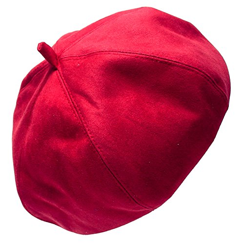Solid Color Beret Cap HatRed