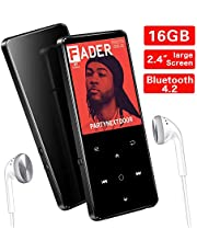 MP3 Player, 16GB Bluetooth 4.0 MP3 Touch Screen mit Kopfhörern,2.4 Zoll TFT Bildschirm,SuperEye MP3 Player Sport Portable, HiFi Lossless, FM Radio,Unterstützt bis 64 GB,Schwarz