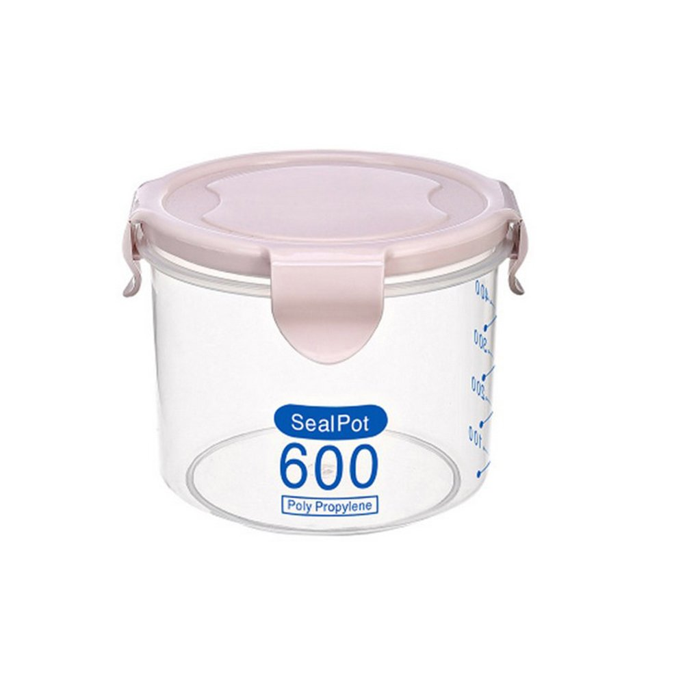 Clear Plastic Kitchen Storage Jar Bottle Spice Snack Tea Coffee Seal Canister Container with Clip Top size 600ml