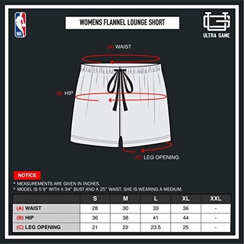 Ultra Game NBA Women's Sleepwear Soft Tee Shirt & Flannel Shorts Loungewear Pajama Set