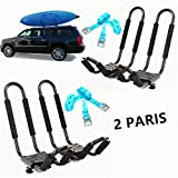 Mrhardware Kayak Roof Rack for SUV Car Top Roof Mount Carrier J Cross Bar Canoe Boat