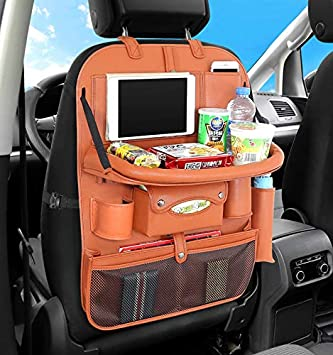 Auto Car Seat Back Bag Organizer Storage iPad Phone Holder Multi-Pocket Hanging